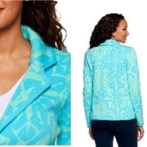 IsaacMizrahiLive! Floral blazer jacket